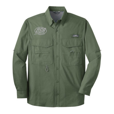 USA Shooting - Eddie Bauer - Long Sleeve Fishing Shirt Seagrass