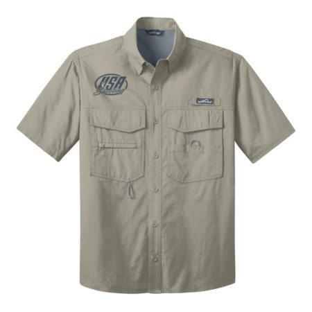 USA Shooting - Eddie Bauer® - Short Sleeve Fishing Shirt Driftwood