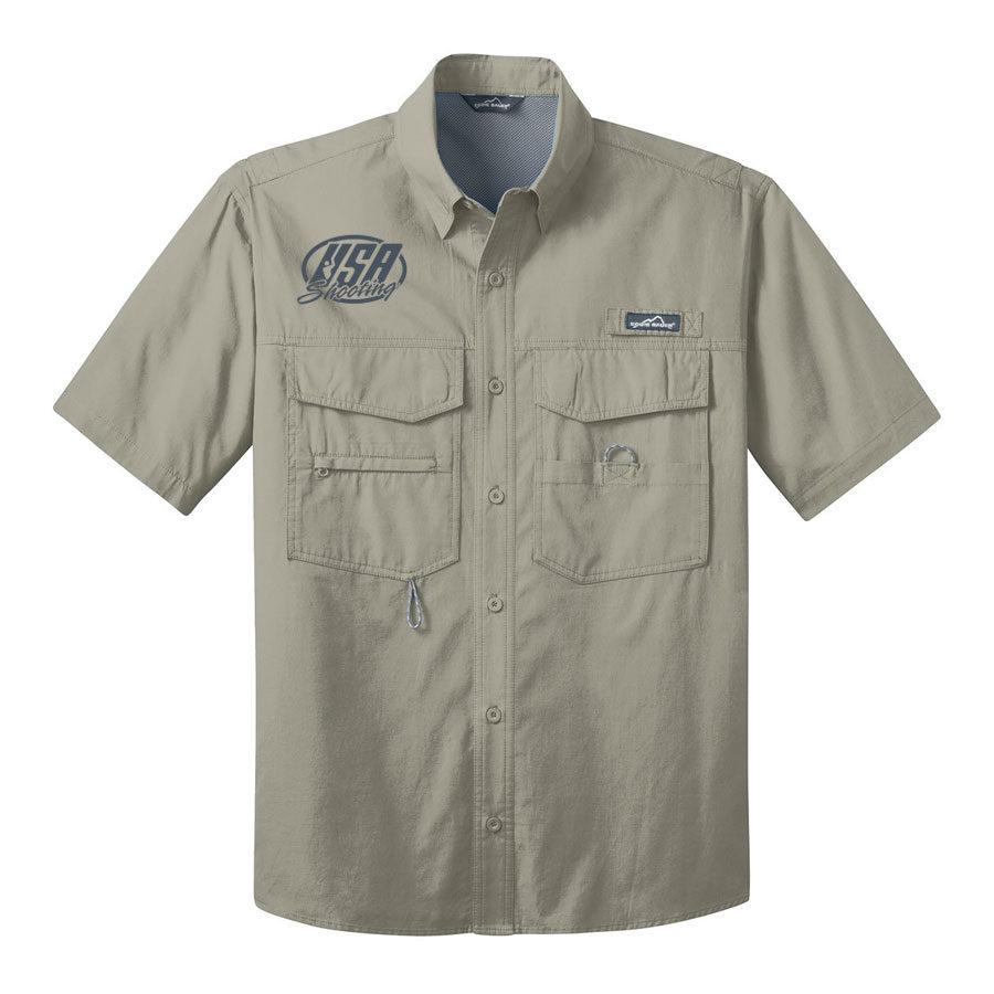 USA Shooting - Eddie Bauer® - Short Sleeve Fishing Shirt Driftwood