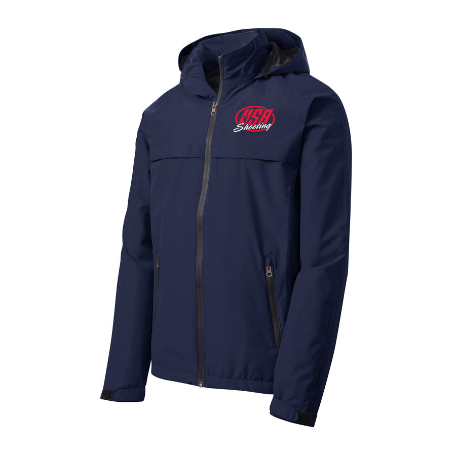 USA Shooting - Port Authority Torrent Waterproof Jacket Front Navy