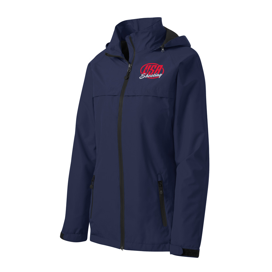 USA Shooting - Port Authority Ladies Torrent Waterproof Jacket Front Navy