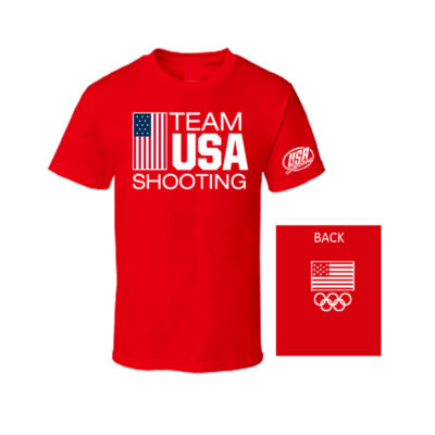 Team USA Flag T-Shirt Red Front