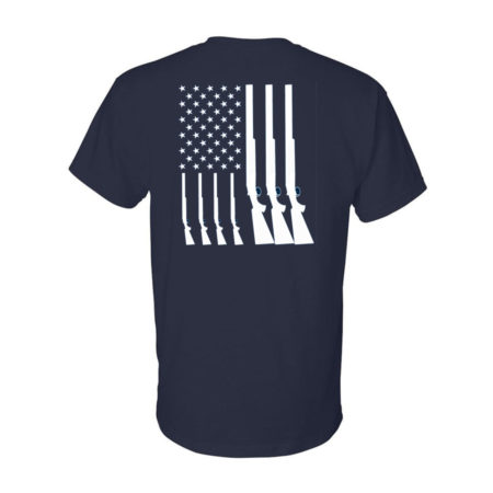 Team USA Shotgun Flag Shirt Navy Back