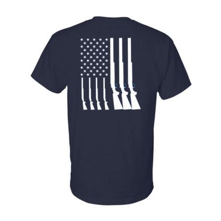 Team USA Shotgun Flag Shirt Navy Back