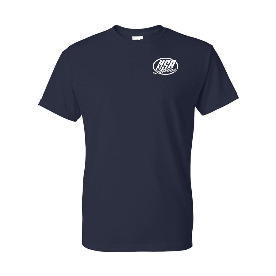 Team USA Shotgun Flag Shirt Navy Front