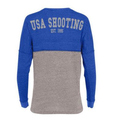USA Shooting Ladies Spirit Jersey Vintage Royal/Vintage Grey Back