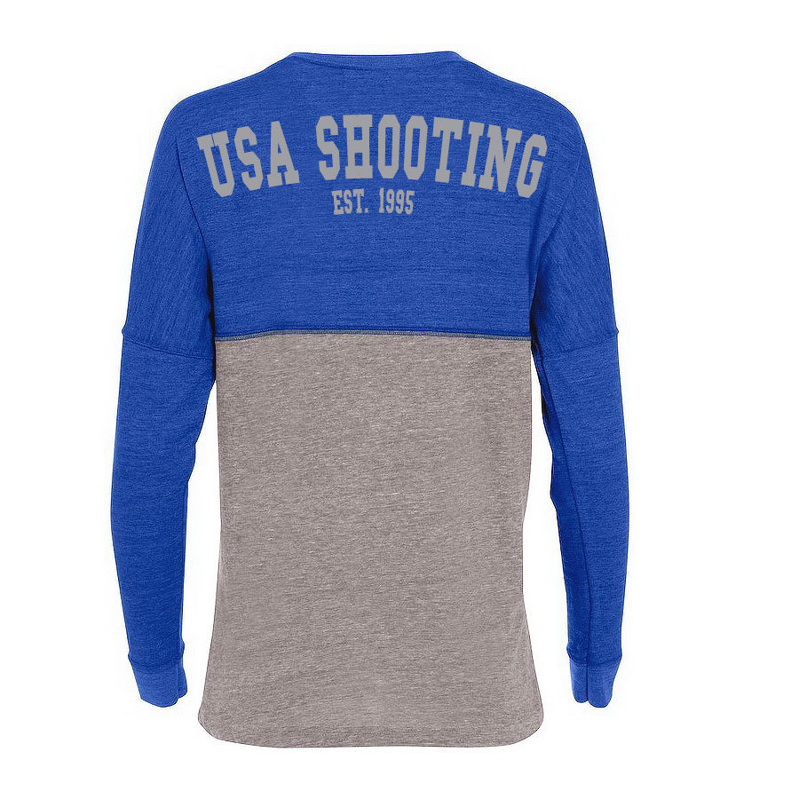 USA Shooting Ladies Spirit Jersey Vintage Royal/Vintage Grey Back