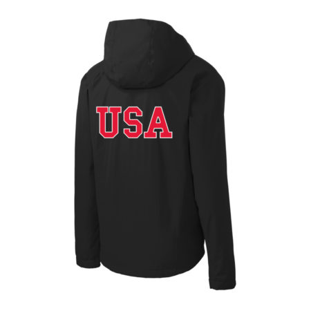 USA Shooting - Port Authority Ladies Torrent Waterproof Jacket Back Black