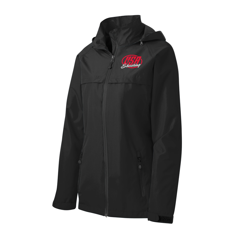 USA Shooting - Port Authority Ladies Torrent Waterproof Jacket Front Black