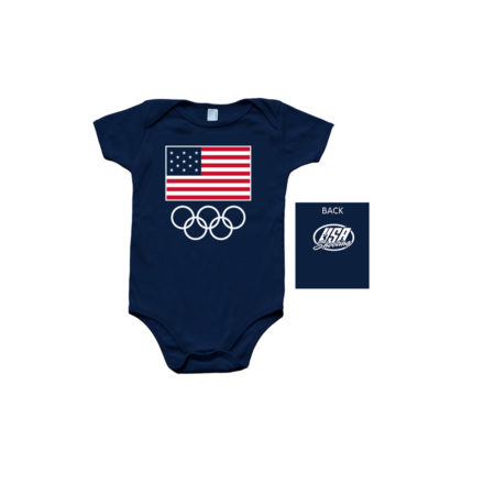 USA Shooting Infant Onesie - Navy