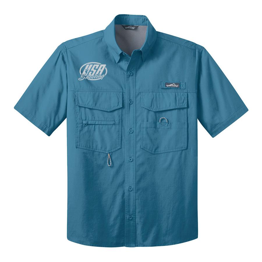 USA Shooting - Eddie Bauer® - Short Sleeve Fishing Shirt Blue Gill