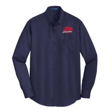 USA Shooting - Port Authority® SuperPro™ Twill Shirt - Navy